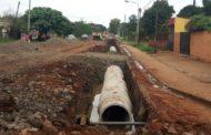 Plan avenidas Posadas: ejecutan obra hidráulica en avenida Monseñor D´Andrea