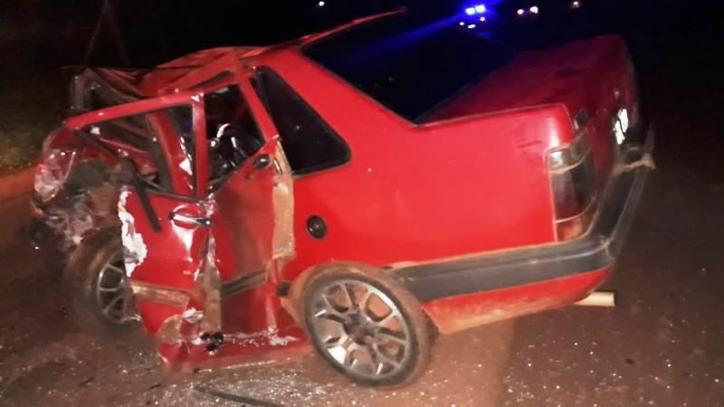 Tres personas hospitalizadas en choque múltiple sobre la Ruta 103
