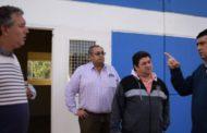 Losada recorrió las obras de la nueva Escuela de Tránsito Municipal